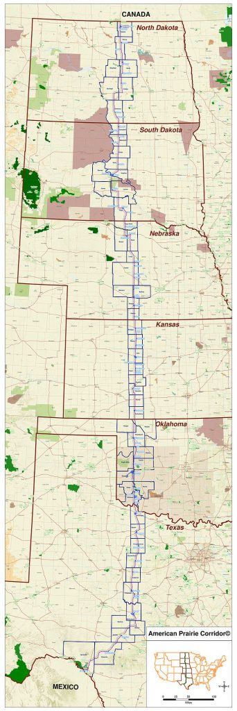 2018 American Prairie Corridor map