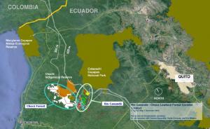 Ecuador Choco map