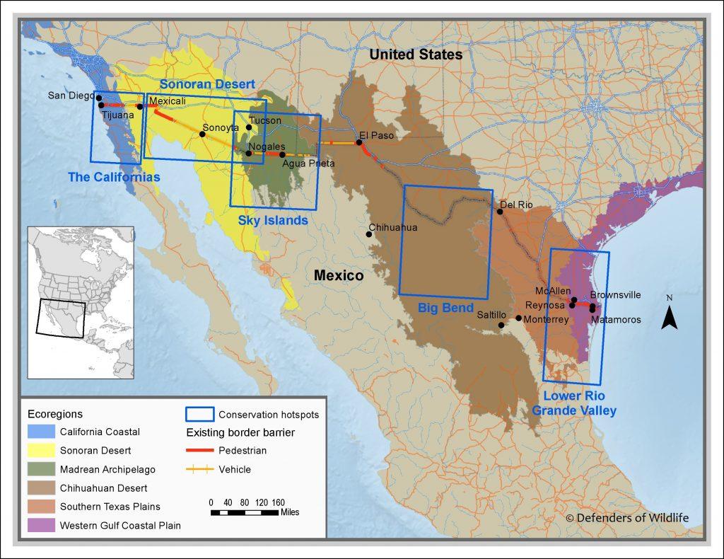 US-Mexico borderlands Defenders of Wildlife